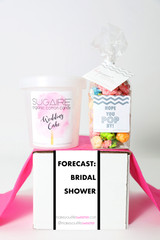 "Bridal Shower Invitation Gift  - ""FORECAST BRIDAL SHOWER"" - 2 Sweet treats"