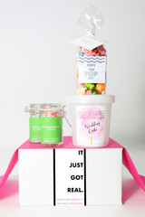 "Bridal Shower Invitation Gift  - ""IT JUST GOT REAL"" - 4 Sweet treats"