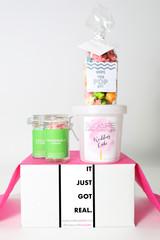 "Bridal Shower Invitation Gift  - ""IT JUST GOT REAL"" - 4 Sweet treats"