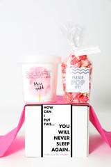 "Baby Shower Gift - ""YOU WILL NEVER SLEEP AGAIN"" - 2 Sweet treats"