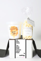 "Foodie Gift - ""THE ONLY THING I LIKE BETTER THAN TALKING ABOUT FOOD IS EATING."" - 2 Sweet treats"