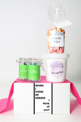 "Hero Gift - ""WHEN I THINK OF HEROES I THINK OF YOU"" - 4 Sweet treats"