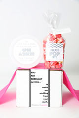 "Zoom Wedding Invite Gift - ""YOU ARE CORDIALLY INVITED…""- 2 Sweet treats"