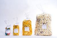 OUR HOTPOPPIN BAG SIZES: MINI, MEDIUM, LARGE, PARTY
