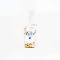 Customized Mini Hotpoppin Gourmet Popcorn Favor Bag.  Perfect for wedding favors, bridal showers, baby shower, corporate gifting, hotel amenities, trade shows and gift baskets.