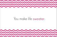 You Make Life Sweeter - Customized Thank You Card & Envelope