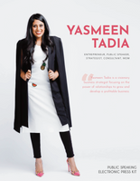 Aside from her drive to make the world a little sweeter through sweet treats and philanthropic initiatives, Yasmeen Tadia also owns a start-up called Evolving Your Leadership, which focuses on business consulting, mentorship, HR assistance, career planning, and/or strategic development to support entrepreneurs and startups.  After lots of requests, our founder Yasmeen Tadia is offering 30 minute private consulting and mentorship sessions, focusing on entrepreneurship, career planning, HR consulting, branding/marketing assistance and developing strategic plans.   From an open conversation about an idea to specific product development and marketing questions, Yasmeen is excited to share her tips and personal experiences to help walk small business owners and dreamers through their questions, challenges and concerns.  Sessions are in 30 minute increments over ZOOM video conference.   Guests are to bring any questions, materials and products they want to discuss. Disclaimer: Any advice given is pure opinion.   Consulting details: Date and time to be chosen between Yasmeen and guest upon purchase. 50% off select Make Your Life Sweeter products on the day of your session (valid day of mentor session only) All consulting sales final