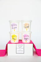 Sugaire Cotton Candy Subscription comes with four assorted flavors in each shipment. Prepare to be surprised!