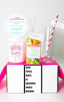 """Birthday Gift  - """"On this day, a queen was born."""" - 3 Sweet treats"""