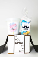 """Baby Announcement  - """"IF YOU MUSTACHE... IT'S A BOY!"""" - 2 Sweet treats"""