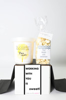 """Work Anniversary Gift - """"WORKING WITH YOU IS SWEET"""" - 2 Sweet treats"""