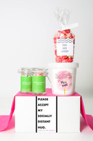 """Just Because Gift - """"PLEASE ACCEPT MY SOCIALLY DISTANT HUG"""" - 4 Sweet treats"""
