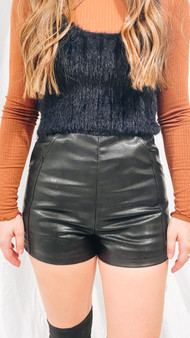 Nordic leather shorts