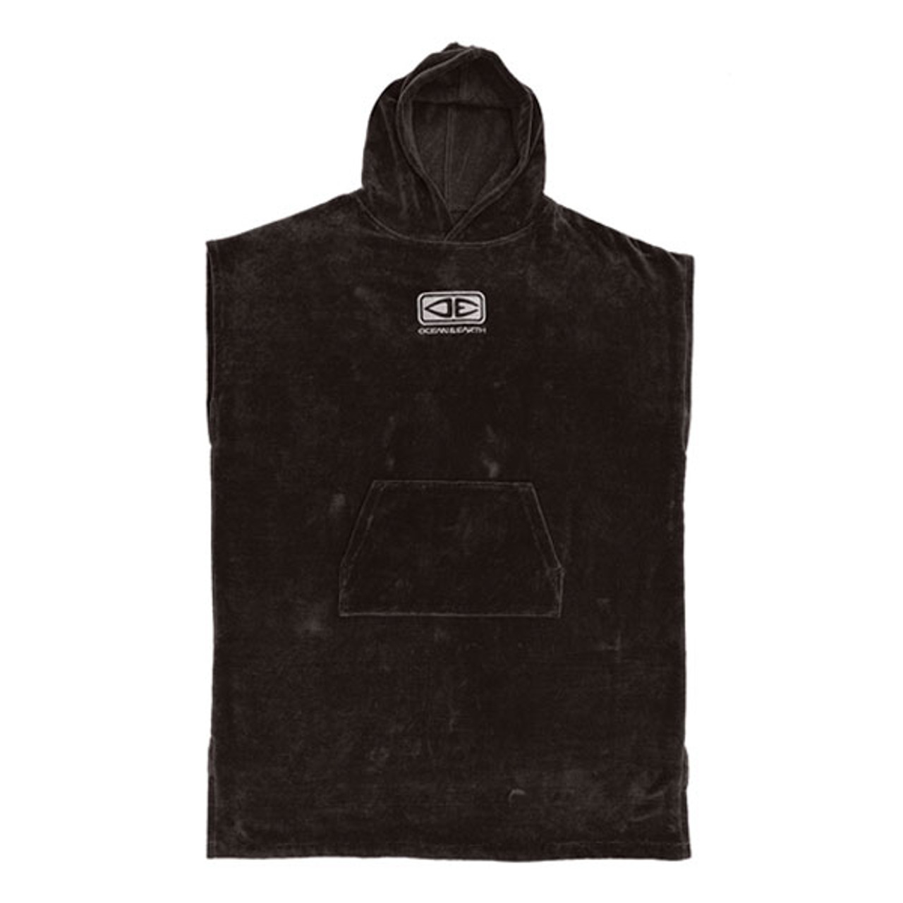 Ocean and Earth Men's Corp Hooded Towel Poncho | Black