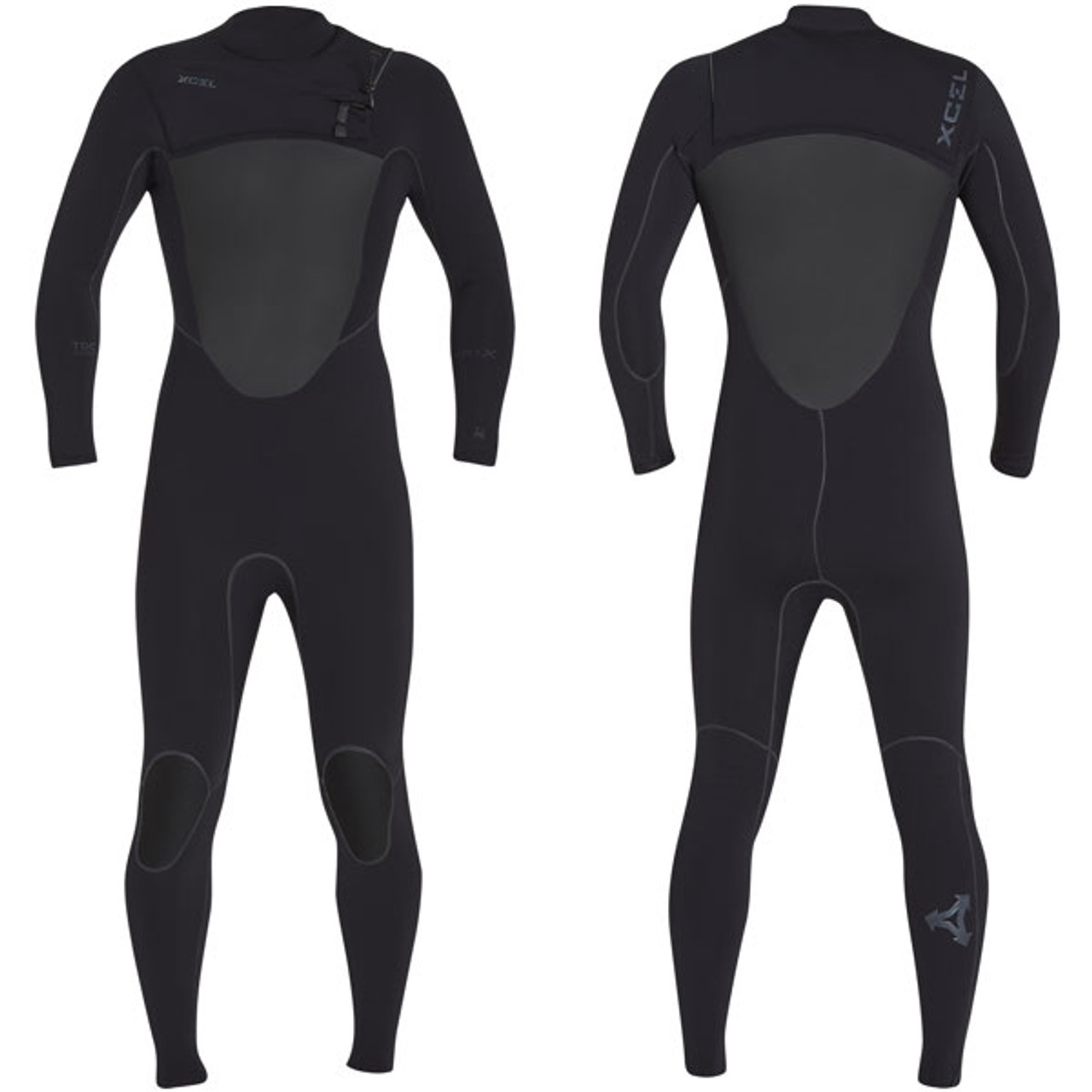 10a790c246 Drylock X Power Seam Steamer 3:2mm | Chest Zip | Black | Xcel Wetsuits |  The Best Surfing Wetsuit