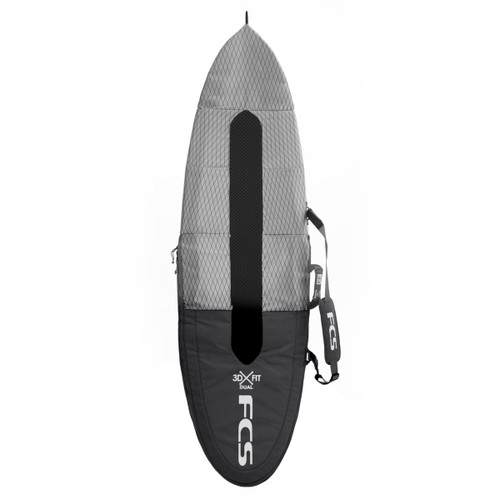 FCS Flight All Purpose  Surfboard Cover | Suits Shortboard |  Surf Travel Essentials | Charcoal
