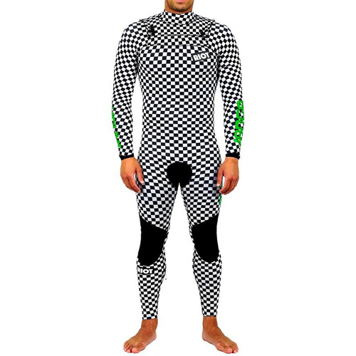 Riot Team Steamer | White Black | LARGE  Mens | Full Surfing Wetsuit 3/3mm | JANGA in Australia | Special Release | 1 Available