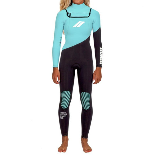 Indigent Steamer 4/3mm | JANGA in Australia | Full Surfing Wetsuit | Glacier Blue Graphite | Ladies | Womens | 1 Available | Size 2