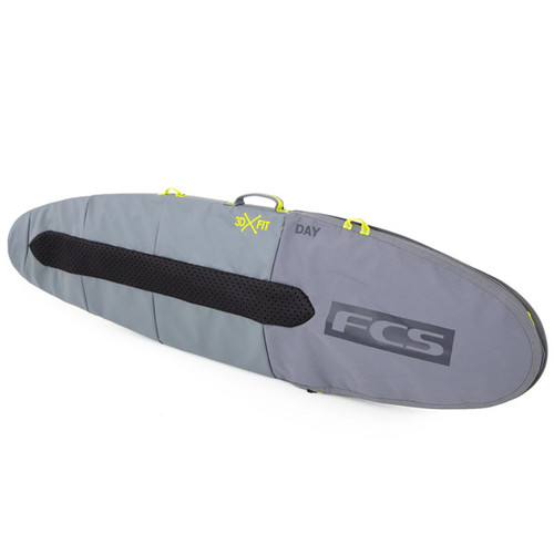 FCS Day Funboard  Surfboard Cover | Suits Hybrid / Fish Surf Boards |  Surf Day Trip Travel Essentials | Cool Grey