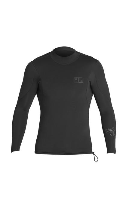 Xcel Axis 2:1mm Long Sleeve Wetsuit Top| Black | Surfing Vest |