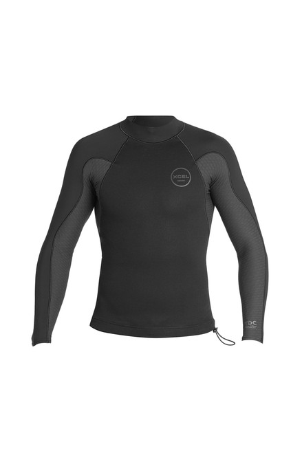 Xcel Axis Neostretch 1:0.5mm Long Sleeve Wetsuit Top | Black | Surf Vest | Surfing Jacket | New Season