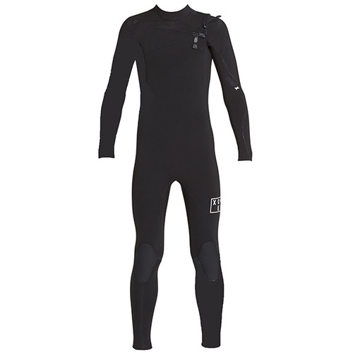 Youth Infiniti Comp X Steamer 3:2mm | Chest Zip | XCEL | Black | Kids | Groms | Junior | Surfing Wetsuit