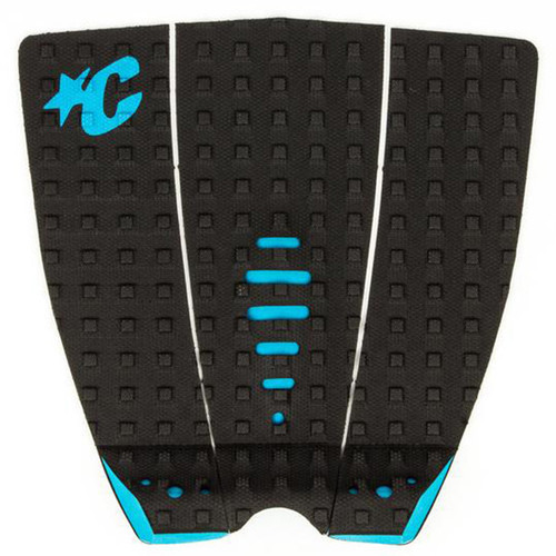 Mick Fanning Lite Tail Pad   Black / Cyan   Surfing Deck Grip   Creatures of Leisure   Surf Traction Pad