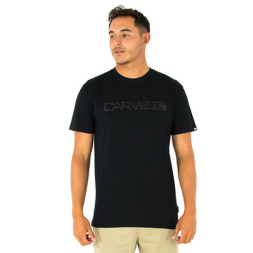 Break Down Black on Black Tee Shirt | Carve | T-Shirt | Clothing | Surf Wear | Beach Gear | Casual Apparel For Surfers