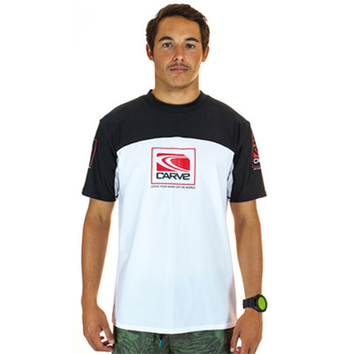Fortune Rashie | Rash Vest | Surf Shirt | Carve | White | Relax Fit | Surf Wear | Beach Gear | T-Shirt For Surfing