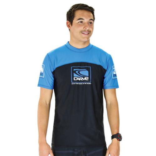 Fortune Rashie | Rash Vest | Surf Shirt | Carve | Blue | Relax Fit | Surf Wear | Beach Gear | T-Shirt For Surfing
