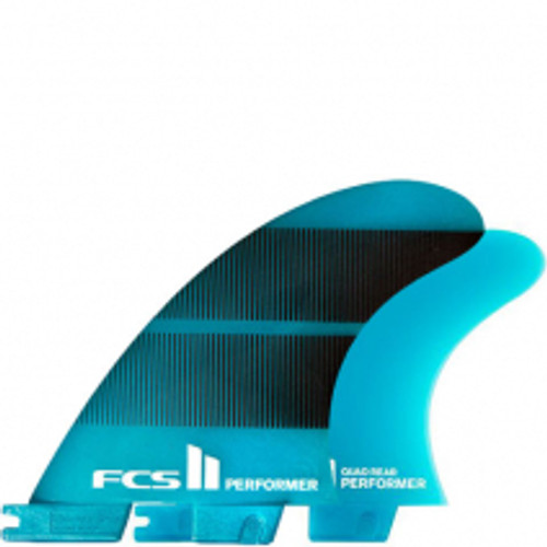 FCSII Performer | Quad 4 Fin Set | Neo Glass | FCS2 | Best All Round Surfing Fin