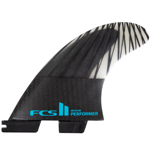 FCSII Performer | Thruster 3 Fin Set | Black Edition | Performance Core Carbon | FCS2 | Best All Round Template | Surfboard Fins