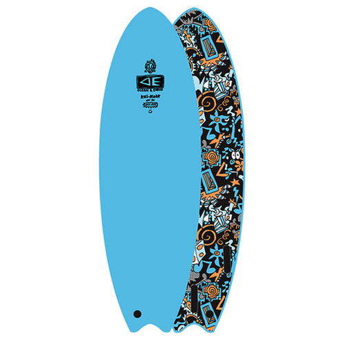 Hippy Skull | EZI-Rider | Learner Softboard | Ocean and Earth | Beginner Foam Surfboard