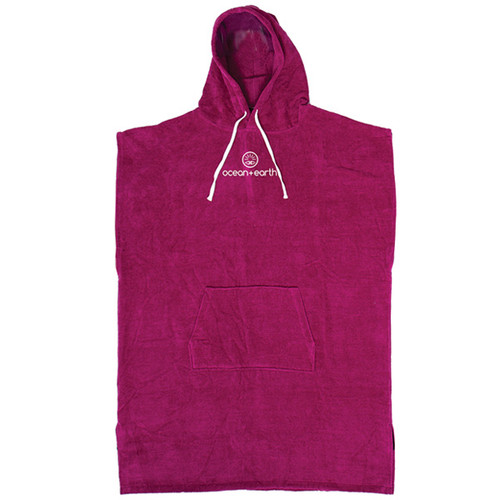 Ladies Hooded Beach Towel  Surf Poncho | Berry | Womens | Ocean and Earth