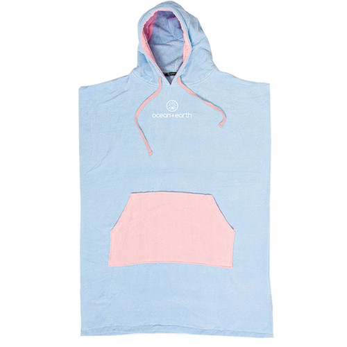 Youth Daydream Hooded Towel Beach Surf Poncho | Pale Blue | Ocean and Earth | Groms | Kids