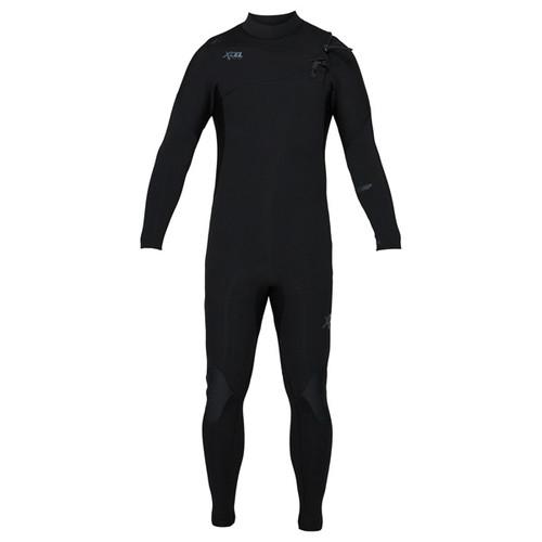 Xcel Comp Steamer 3:2mm | X2 Chest Zip | Jet Black | Full Surfing Wetsuit | 2020 Release