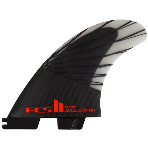 FCSII Accelerator | Thruster Fin Set | Performance Core Carbon | FCS 2 | Top of The Range Surfboard Fins | Speed and Flow