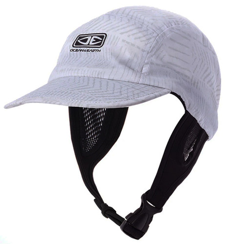 Ulu White Surf Cap | Hat For Surfing | Adjustable Chin Strap | Ocean and Earth