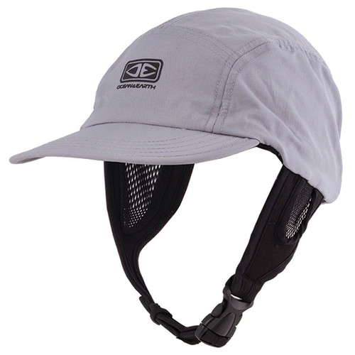 Ulu Light Grey Surf Cap | Hat For Surfing | Adjustable Chin Strap | Ocean and Earth