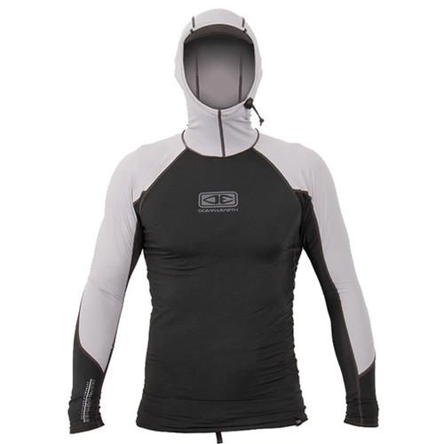 Tropic Snug Fit Long Sleeve Hooded UV Rashguard | Ocean and Earth | Rashie | Surfing Rash Vest