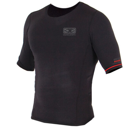 Thermo Short Sleeve Shirt | Surf Vest | Surfing Top | Black | Ocean and Earth |