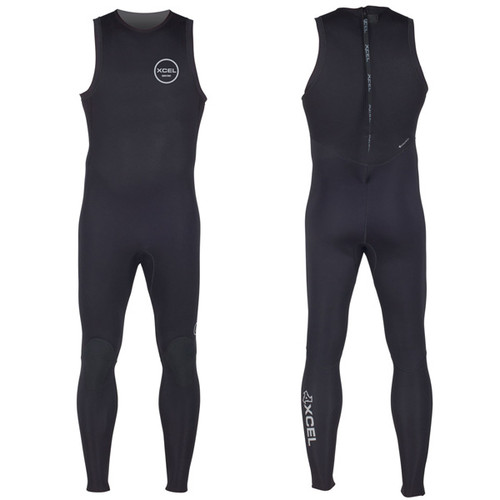 Xcel Axis Long John Wetsuit 2mm| Black | Surfing Wettie | Back Zip