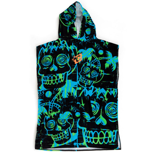 Youth Hooded Towel Poncho | Cyan Green | Groms | Kids | Creatures of Leisure