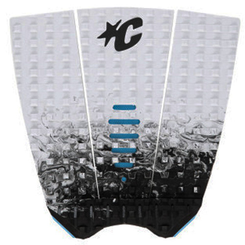 Mick Fanning Tail Pad   White Fade   Surfing Deck Grip   Creatures of Leisure   Surf Traction Pad