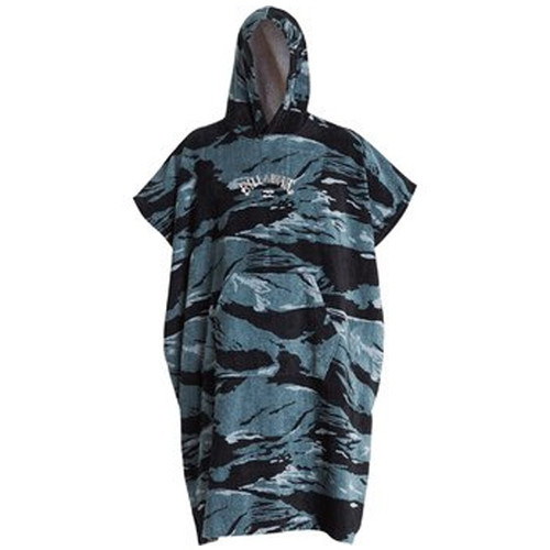 Men's Black Camo Hooded Towel Poncho | Billabong | Surfer Poncho