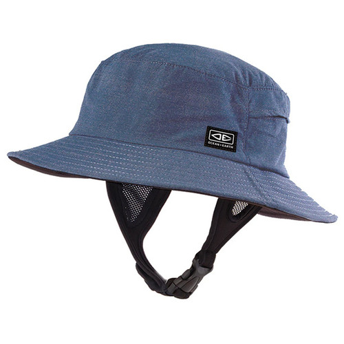 Men's Bingin Soft Peak Surf Hat | Blue | Sun Protection | Ocean and Earth | Surfing Hat With Clip