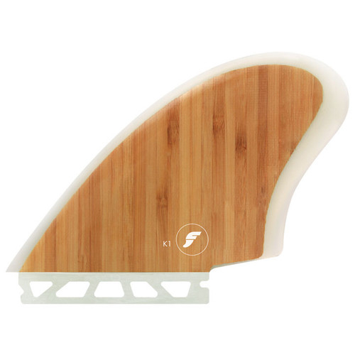 Keel 1 Twin Fin Set | Fibreglass Bamboo | Futures Fins | Ideal Fins for Retro Or Fish Surfboard