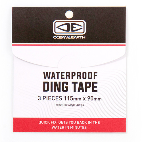 3 Pieces of Waterproof Surfboard Ding Tape | Clear | Quick Surfboard Temporary Repair