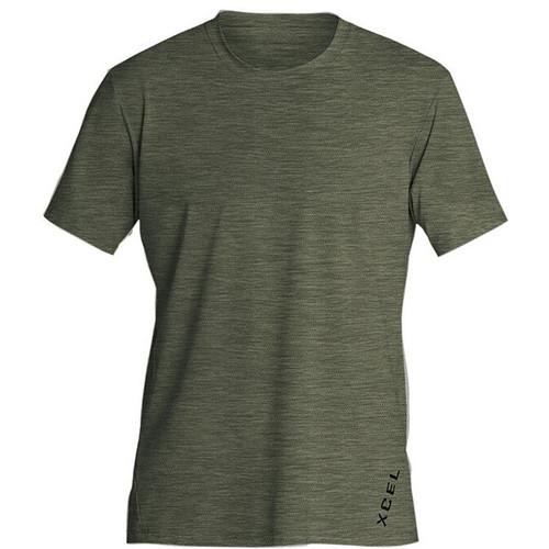 Dark Forest Ventx Short Sleeve Shirt   Premium Stretch UV Surf Tee   Loose Fit Rashie   Rash Vest   Relax Fit Surf Top   XCEL  