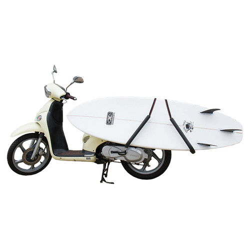 Scooter Surfboard Rack | Moped Surfboard Holder | Transport Surfboard to Beach | Ocean and Earth